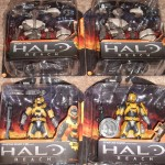 Halo Reach Grunt Ultra and Gold Spartan Action Figures Series 1 Packaged