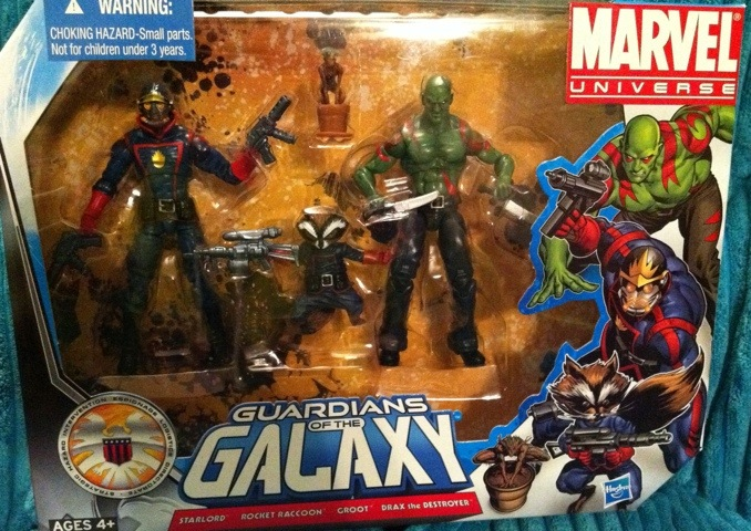 Marvel Universe Guardians of the Galaxy Figures Set Boxed Rocket Raccon Starlord Drax