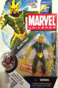 Carded Electro Variant Translucent Arms Variant Marvel Universe Action Figure