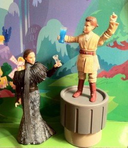 Phantom Menace Padme and Anakin Skywalker Padawn Party Down VC80 Vintage Collection Action Figures