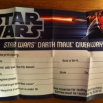 Darth Maul Giveaway Official Contest Entry Form