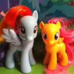 My Little Pony Rainbow Dash and Scootaloo Toys 2012 Hasbro