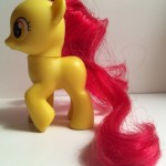 My Little Pony Apple Bloom Toy Left Side from Pony School Pals Set G4 2012