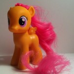 My Little Pony Scootaloo Toy Left Side from Pony School Pals Set G4 2012