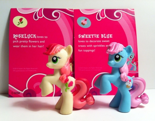 Toy review my little pony blind bags series 1 kiosk ponies part 2 roseluck and sweetie blue my little pony blind bag series 1 mightylinksfo