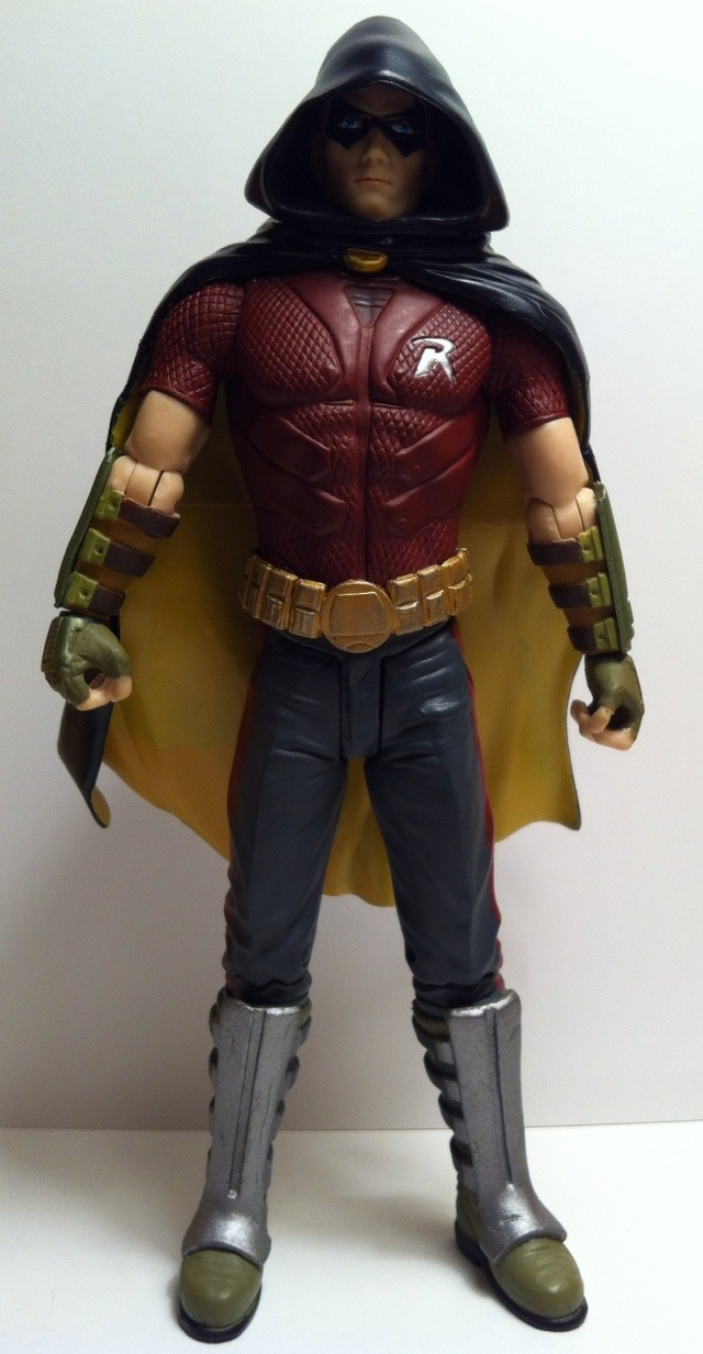 TOY REVIEW  Robin Batman Arkham City Series 1 DC Direct Action    Robin Arkham City Hood