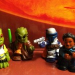 Star Wars Fighter Pods Series 1 Figures Bossk Lando Jango and Kit Fisto