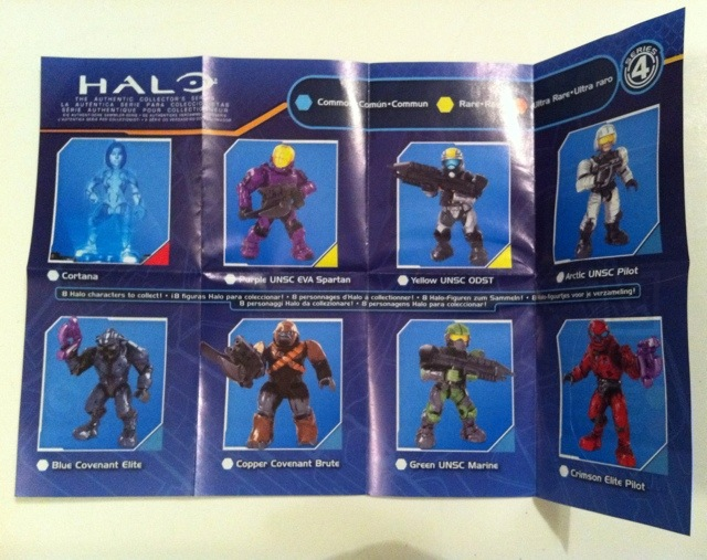 Series 4 Insert Halo Mega Bloks 2012 Figure Blind Bagged Hero Packs