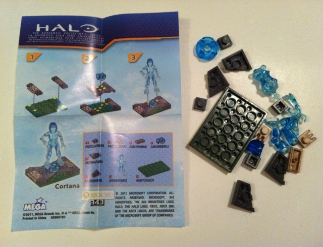 Set Contents Cortana Halo Mega Bloks 2012 Figure Blind Bagged Hero Pack