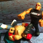 The Rock vs. John Cena WWE Rumblers Figures 2012