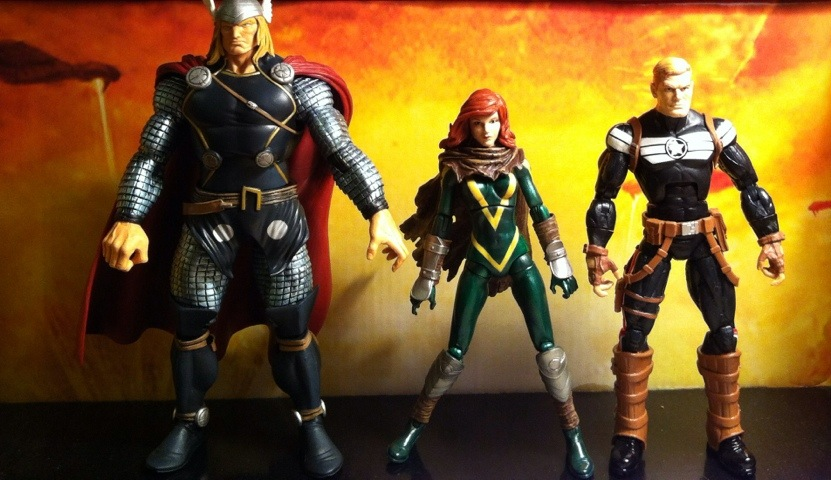 Marvel Legends Series 1 2012 Scale Size Comparison Photo Hope Thor Steve Rogers