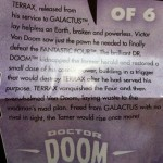 "Dr. Doom ""Tales of Terrax"" Insert from Klaw Marvel Legends 2012 Series 1 Action Figure"