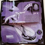 Silver Surfer Tales of Terrax Insert from Constrictor Marvel Legends Series 1 Action Figure 2012 Hasbro
