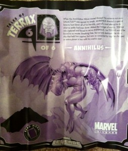 Tales of Terrax Annihilus Insert from Ghost Rider Marvel Legends 2012 Series 1 Action Figure