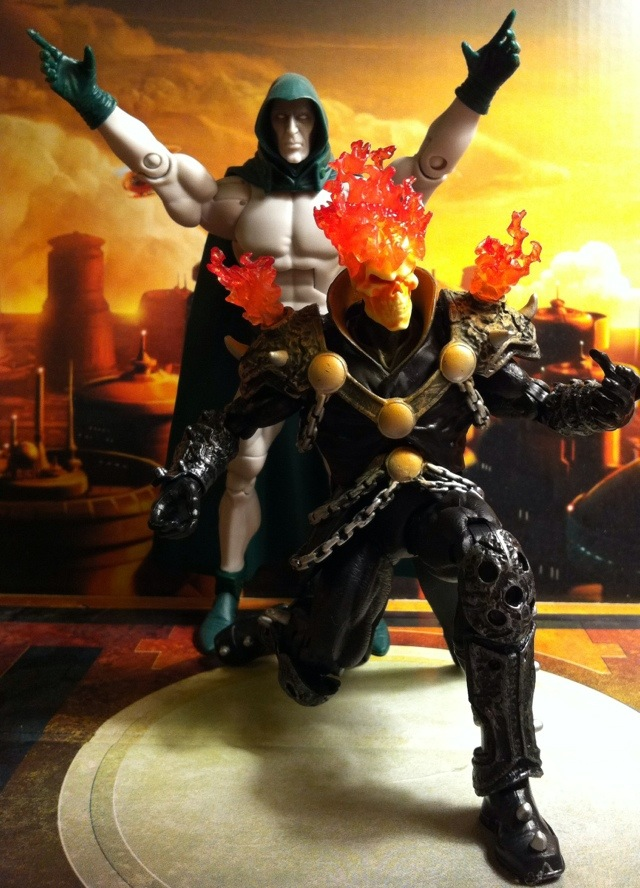 DCUC Spectre and Marvel Legends 2012 Ghost Rider Action Figures