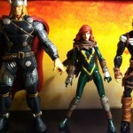 Scale Photo Marvel Legends Thor Hope and Steve Rogers 2012 Action Figures Hasbro