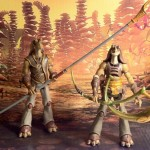 Star Wars Vintage Collection Gungan Warrior and Legacy Collection Gungan Warrior Action Figures