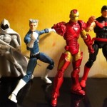 Marvel Universe West Coast Avengers Action Figures Quicksilver Wonder Man Moon Knight Iron Man