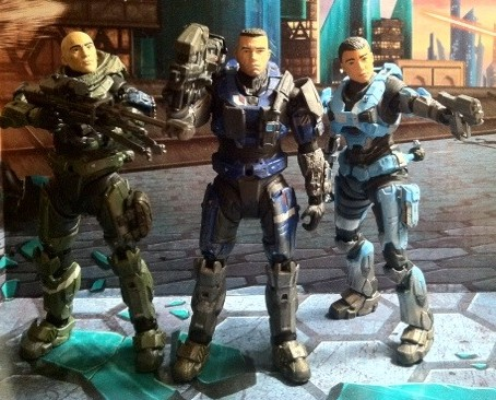 Halo Reach Series 5 and 6 Unhelmeted Head Action Figures Kat Jun Carter McFarlane Toys