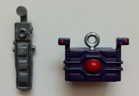 Arnim Zola Build-A-Figure Parts Head and Control Rod from Wrecking Crew Marvel Legends Series 2 2012