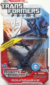 Packaged Transformers Prime Soundwave Deluxe Revealers 2012 Toy