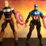 Comparison Photo Steve Rogers Super Soldier and Marvel Legends Captain America Bucky Series 2 2012 Hasbro