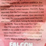 Tales of Arnim Zola Falcon Insert from Marvel Legends Captain America Bucky Series 2 2012 Hasbro