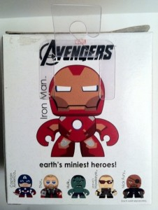 Packaged Box Back Iron Man The Avengers Movie Mini Muggs Action Figure 2012 Hasbro