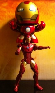 Marvel Universe Iron Man and Avengers Iron Man Movie Mini Muggs Action Figure 2012 Hasbro