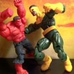 Marvel Legends Red Hulk Battles Thunderball of the Wrecking Crew Action Figures 2012