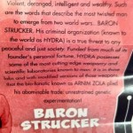 Tales of Arnim Zola Baron Strucker Insert from Marvel Legends Madame Masque 2012 Series 2 Action Figure