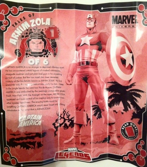 Tales of Arnim Zola Captain America Insert from Dark Wolverine Marvel Legends Series 2 Action Figure