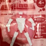 Arnim Zola Build-A-Figure Assembly Instructions Insert from Dark Wolverine Marvel Legends Series 2 Action Figure