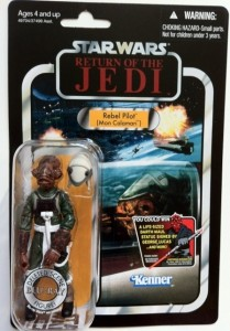 Packaged Rebel Pilot Mon Calamari VC91Star Wars Vintage Collection Deleted Scenes Action Figure