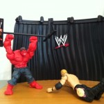 Red Hulk Attacks Christian and Destroys WWE Mattel Build An Interview Set Playset from Best of Pay Per View 2011 Series
