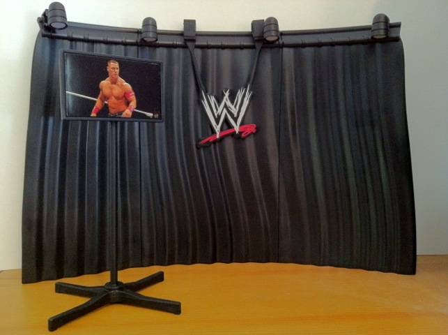 Completed WWE Mattel Build An Interview Set Playset from Best of Pay Per View 2011 Series