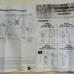 WWE Component Piece Breakdown Instructions for Mattel Build An Interview Set Playset