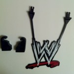 WWE Sign and Clamp Connectors from Mattel Build An Interview Set Playset