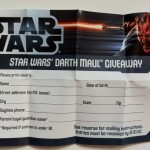 Darth Maul Giveaway Entry Form from Vintage Collection Luke Skywalker Lightsaber Construction VC87 Deleted Scenes Action Figure
