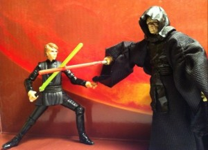 Emperor Palpatine Duel with Star Wars Vintage Collection Luke Skywalker Lightsaber Construction VC87 Deleted Scenes Action Figure