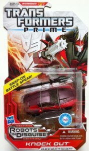 Packaged Knock Out Transformers Prime Deluxe Revealers Toy
