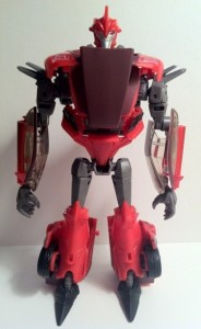 Front of Knock Out Transformers Prime Deluxe Revealers Toy