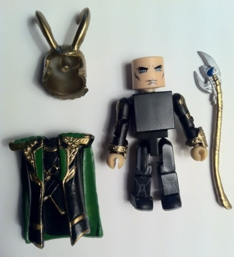 Avengers Movie Minimates Loki Action Figure Disassembled