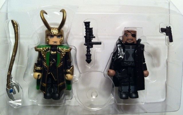 In Bubble Avengers Minimates Nick Fury and Loki Figures Toys R Us Exclusives 2012