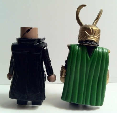 Avengers Movie Minimates Back Loki and Nick Fury Action Figures 2012