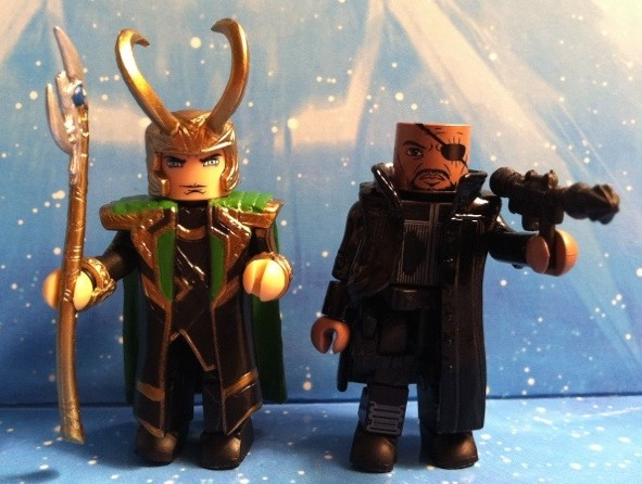 Avengers Movie Minimates Loki and Nick Fury Action Figures 2012