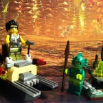 Completed LEGO The Swamp Creature 9461 Monster Fighters 2012 Set