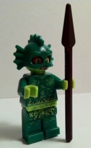Swamp Creature Minifigure with Spear Side 9461 LEGO Monster Fighters The Swamp Creature 2012 Set