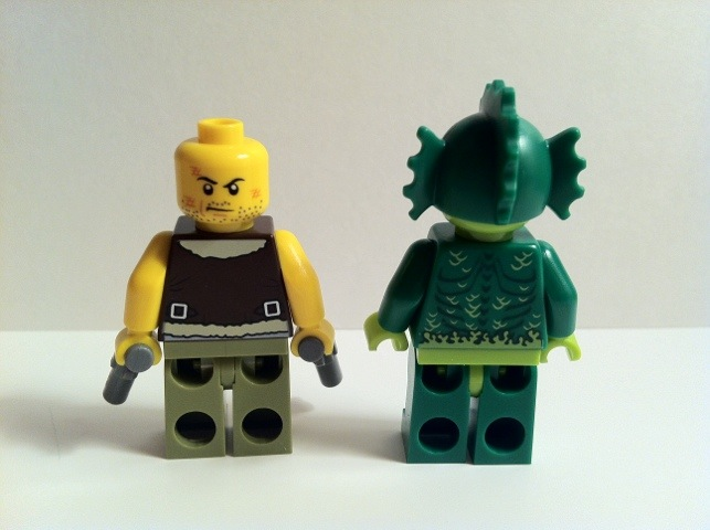 Back of Frank Rock and The Swamp Creature LEGO Minifigures 9461 Monster Fighters 2012