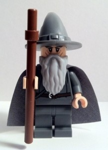 LEGO Gandalf Minifigure Front 9469 Gandalf Arrives Lord of the Rings